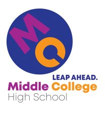 Middle College High School logo Leap Ahead